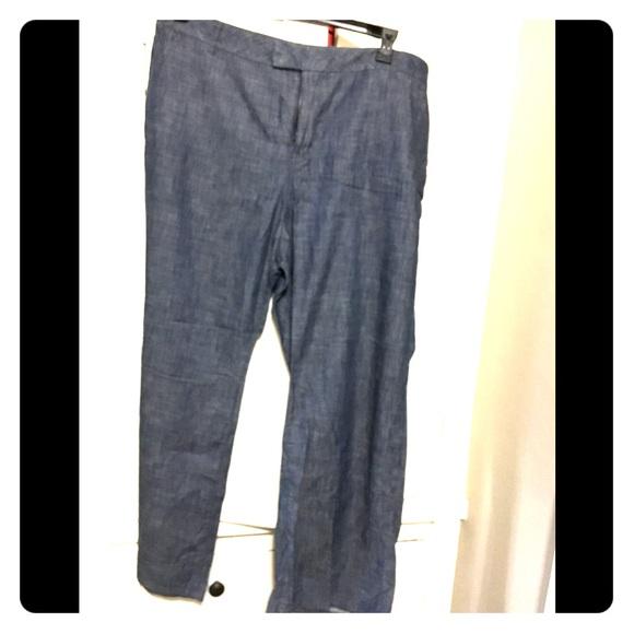 9eff30291ef76 BNWT Lane Bryant 100% cotton wide leg pants